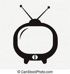Cute tv icon