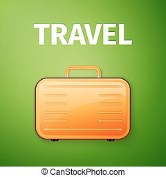 suitcase poster, Traveling equipment, excellent vector...