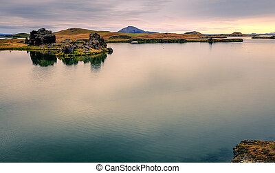 Lake Myvatn in Northern Iceland