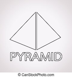 Pyramid design icon