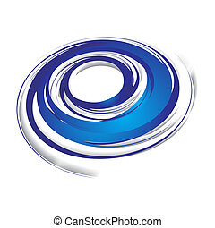 swirl wave - 3d abstract blue swirl wave on a white...