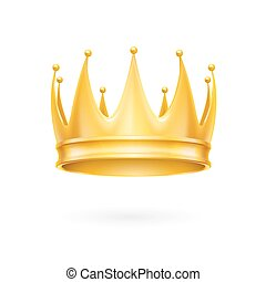 Gold crown - Golden crown isolated on a white background