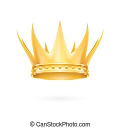 Gold crown - Golden crown isolated on the white background