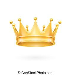 Gold crown - Royal attribute golden crown isolated on a...