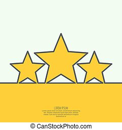 Abstract background with gold stars. The highest award,...