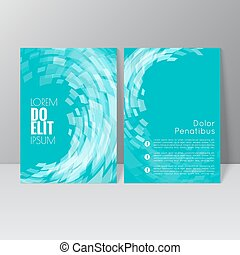 Vector brochure template design with the wave, swirl and...