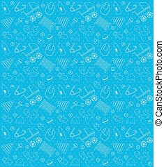 baby-shower_boy_pattern_set - Vector seamless Blue Baby...
