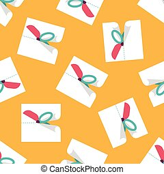 Scissor cut paper flat icon with long shadow,eps10