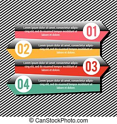 info02.eps - Four colourfull and numbered infographic...