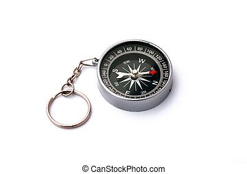 Black compass isolated on white background