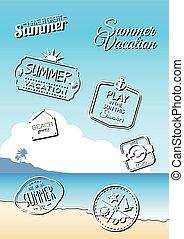 Summer badges