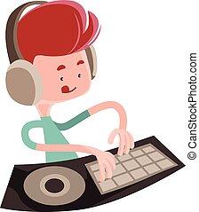 Dj playing music beats