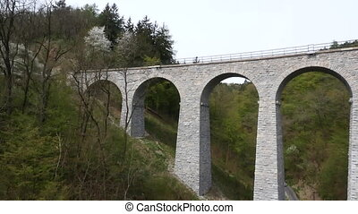 Bridge with a Track at Beautiful