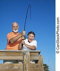 年長者, 卷起, 夫婦,  fish