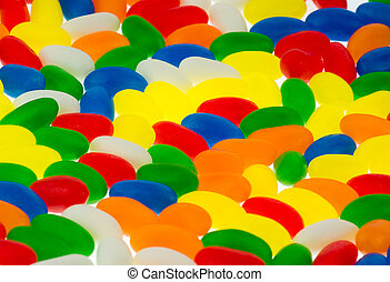 jellybeans - Background of colorful jelly beans candy from a...