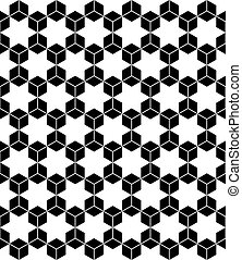 Hexagons and hexagrams seamless pattern Vector art