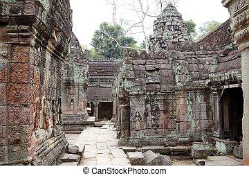 Preah Khan - Preah Khan temple ruins, Angkor, Siem Reap,...