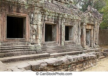 Preah Khan - Architecture details of the Preah Khan temple...