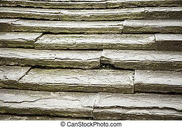 Unique, ancient, solid stone stairs - Unique ancient set of...