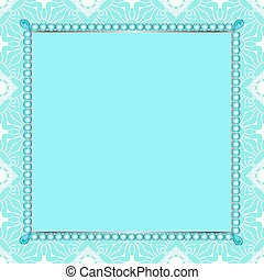 Invitation to the frame of the gems on the patterned...