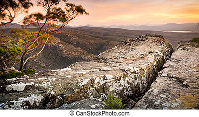Cliff Top - Cliff top views at sunset in the Grampians...