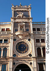 Torre dell Orologio (Clock Tower) in Venice, Italy - Torre...