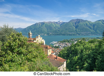 Madonna del Sasso,Locarno - the famous Church called Madonna...
