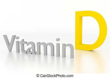 vitamin d 3d illustration on white surface - vitamin d 3d...