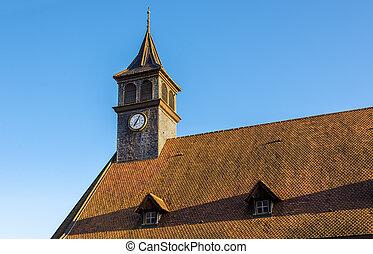 建物, 中心,  -, フランス, 歴史的,  doubs,  montbeliard