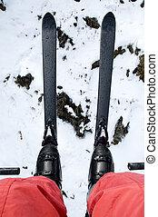 ski lift view