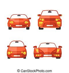 Set of different vector passenger cars in flat style