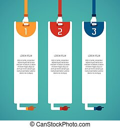Abstract vector 3 steps infographic template in flat style for layout workflow scheme, numbered options, chart or diagram