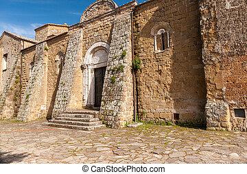 Old church in Sovana, Tuscany