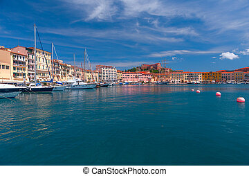 Panorama of Porto Azzurro on Elba Island, Italy - Panorama...