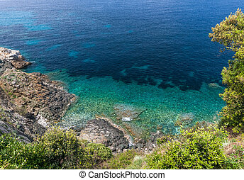 Island of Elba, sea and rocks - The Island of Elba, sea and...