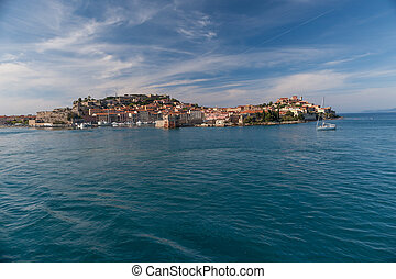 View of Elba island, Tuscany Italy - View of Portoferraio...