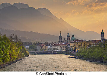 Innsbruck. - Image of Innsbruck, Austria during dramatic...