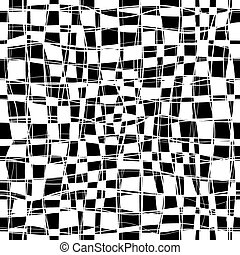 Checker Chess Seamless Pattern - Black and white checker...