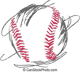 Baseball EPS - Sketchy Baseball Vector in a fun style....