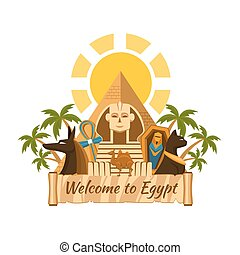 Egypt label - Visit Egypt. Tourist Egyptian Attractions....