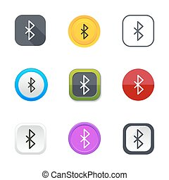 Bluetooth icons - Bluetooth icon set. Mobile network circle...