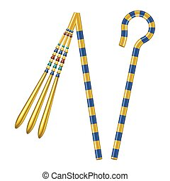 Scepters of Egypt Pharaohs - Crook And Flail, originally the...