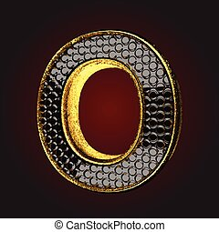 o black letter with gold