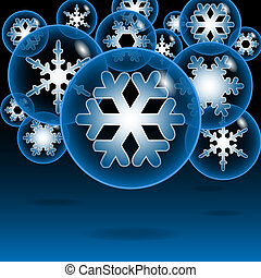 Snow-Flake - Let it snow - snowflakes snow and sky in blue...