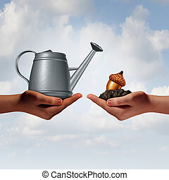Watering Can Investing - Watering can investing business...