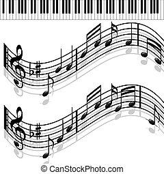 Music notes-Piano-Melody