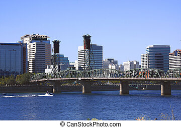Hawthorne bridge Portland OR. - Another view of Hawthorne...