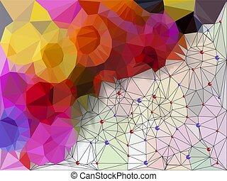 Vivid color polygonal background