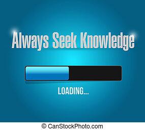 always seek knowledge loading bar sign concept illustration...