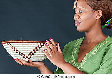 traditionnel, femme, africaine